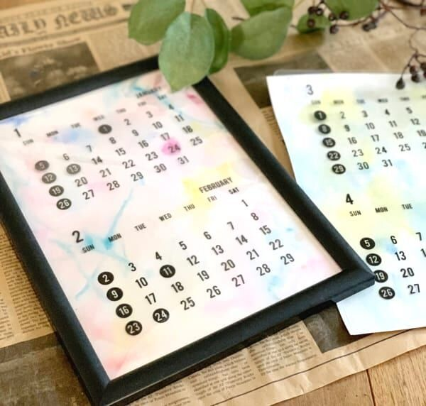 【連載】《セリア》で簡単アートな2020年のカレンダーを作ろう♬
