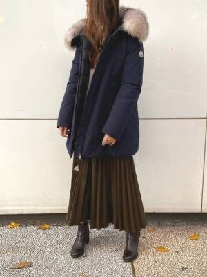 [B'2nd Womens] 【雑誌掲載】DROIT BELLO(ドロイトベロ)レザープリーツスカート