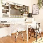 キッチンに近くて便利!ダイニングテーブルの配置&おしゃれなインテリア術