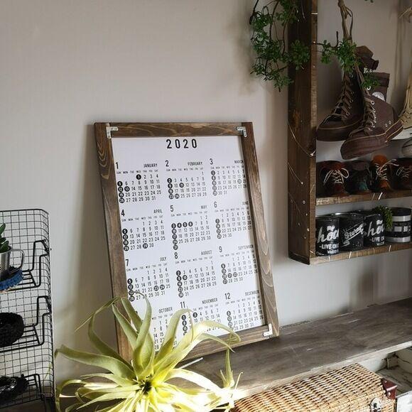 市販のカレンダーをリメイクする