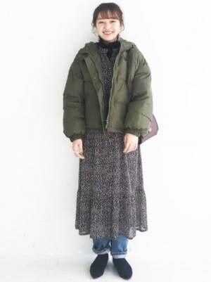 134[haco!] 軽くてあったか!そのうえ短め丈でバランスよく見える中綿コート by ZAMPA