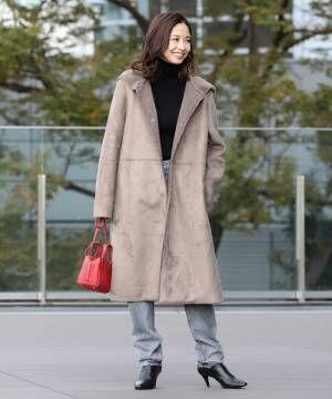 [BEAMS WOMEN] Demi-Luxe BEAMS / エコムートン コート