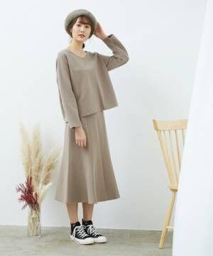 [ROPE' PICNIC] 【セットアップ対応】起毛ポンチマーメイドスカート