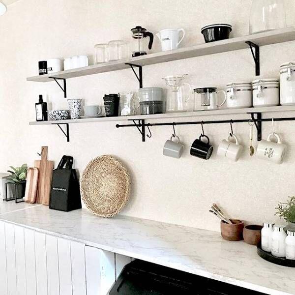 キッチンの壁面収納はこうする!おしゃれで賢いキッチン整理術
