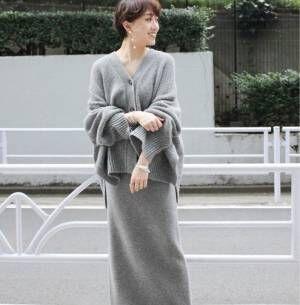 デザイン&カラー豊富!あったか可愛いニットスカートの冬コーデをチェック♪