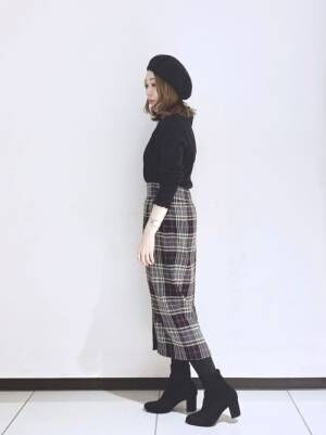 [Te chichi] チェックタイトスカート