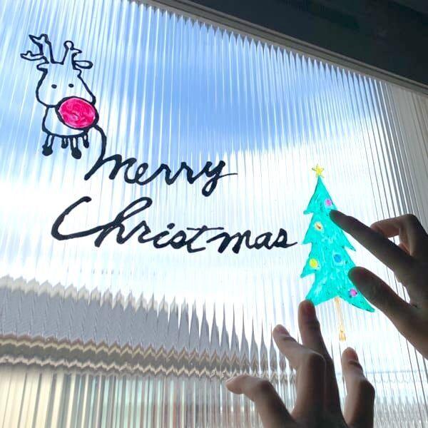 【連載】冬のおうち遊びにピッタリ★子供も大人も楽しいピタッとペイントで窓をデコレーション♪