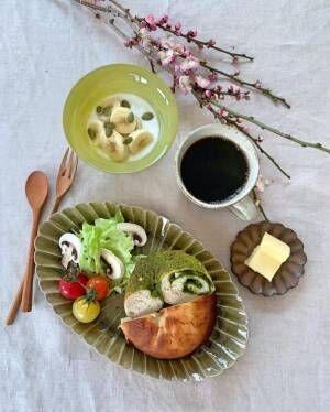 2種のベーグルで和モダンな朝食を
