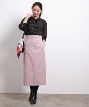 [ROPE'] 【新色追加】【ドラマ着用】前ポケットハイウエストタイトスカート