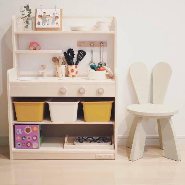 子どもも大人も楽しい♪『おままごとキッチン』のお洒落な整理収納アイディア