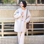 冬の洗練スタイル♡ホワイトアウターでワンランクアップコーデ15選