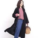 羽織るだけで上品エレガント♪ガウンコートを使った大人女子スタイル15選