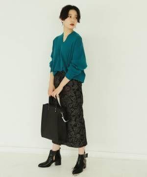 [PAGEBOY] ペイズリーJQナロースカート