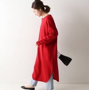冬ワンピースの着こなしを格上げ♡マネしたくなるレイヤードコーデ