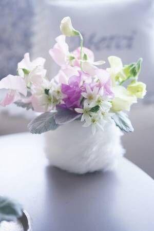 寒い季節にオススメ♪オシャレな毛糸花瓶のアレンジ方法3