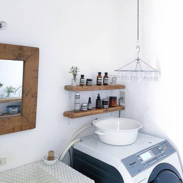 洗濯機上のスペース 収納10