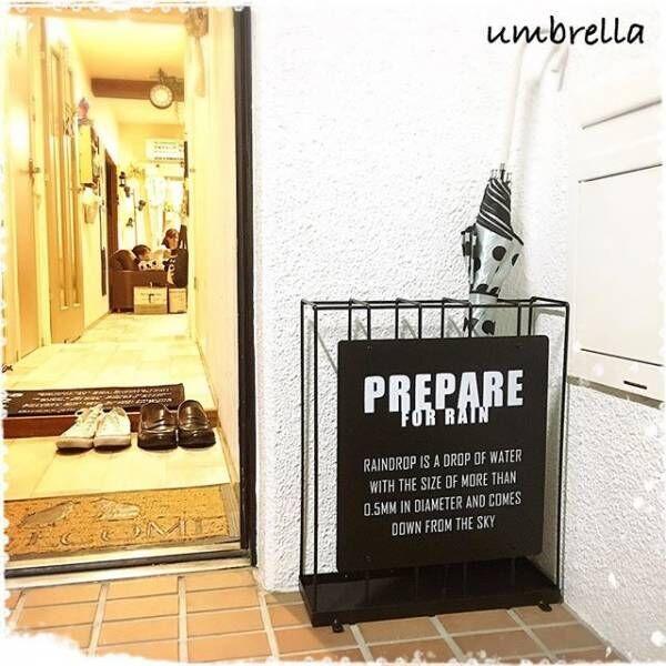 雨の日も玄関スッキリ!おしゃれな傘立て・傘掛け・DIY傘立て特集