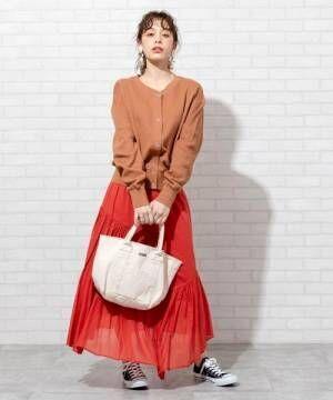 [coen] コーエンロゴ刺繍カットオフトートバッグ