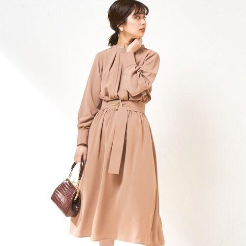 [natural couture] 【WEB限定カラー有り】2WAYきれいめワンピース