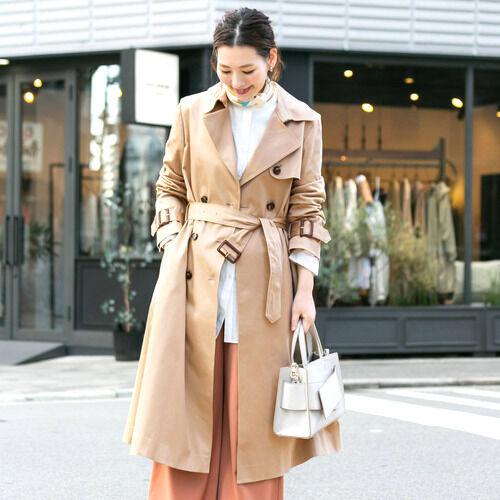 大人女子のトレンチコートコーデ☆羽織るだけでこなれる旬な着こなし術