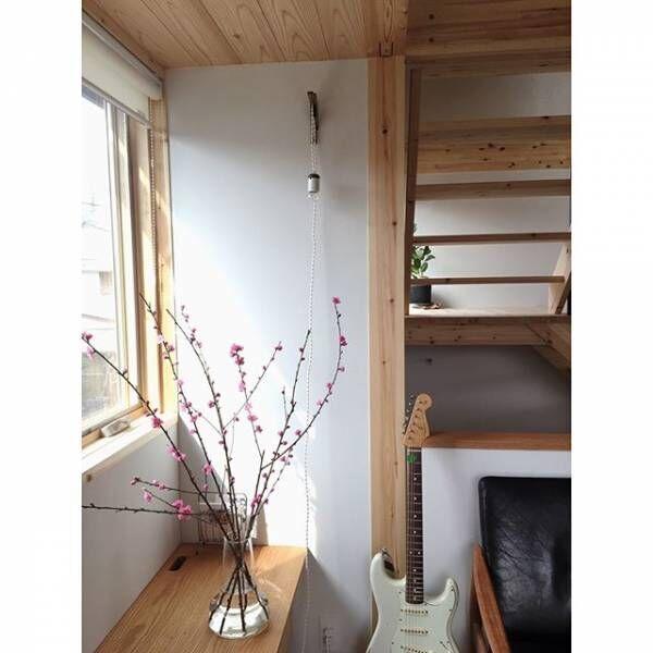 桃の花のあるシンプル空間2
