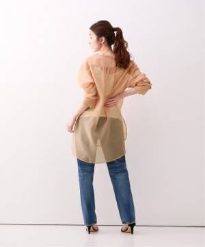 [Spick & Span] シースルードレスシャツ◆