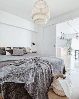 海外インテリアのような寝室