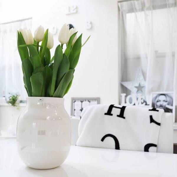 《春のお花》でお部屋を明るく♪インテリアに映えるフラワーディスプレイ