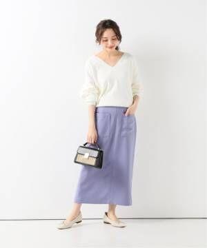 [IENA] ツイルサイドポケット タイトスカート◆