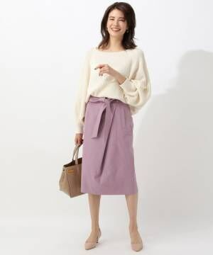[BABYLONE] シェルタリングタックタイトスカート