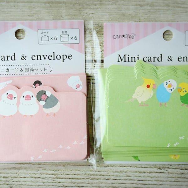 ミニカード&封筒セット【キャンドゥ】