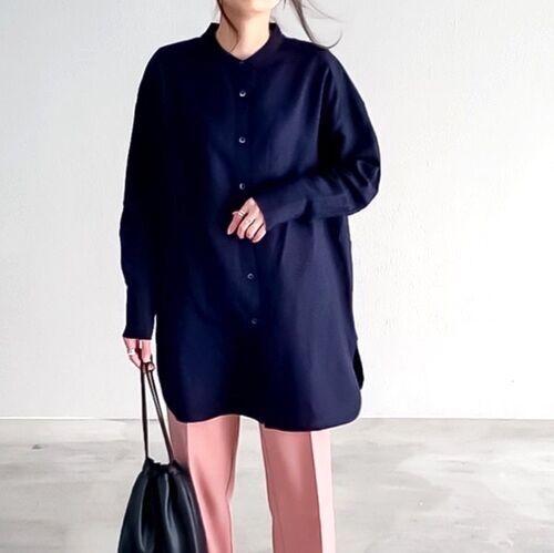 【ユニクロ】のシャツでヘルシー春コーデ♪無地からストライプまで着こなしカタログ