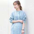 ブルーのシャツ&ブラウスコーデ15選♪清涼感のあるトップスで春スタイル
