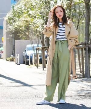 [Social GIRL] 袖コンシャスキャンディースリーブケープトレンチスプリングコート