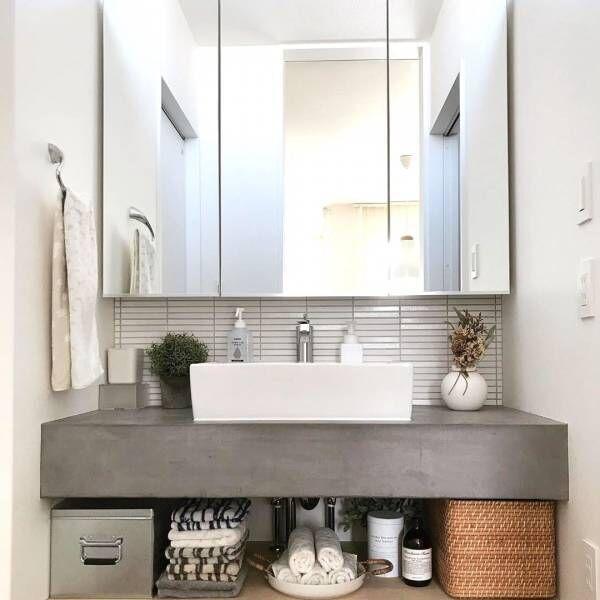 毎日使うからこそこだわりたい♡憧れのおしゃれな洗面所インテリア