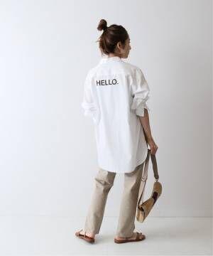 [Spick & Span] ブロード バックロゴシャツ2◆