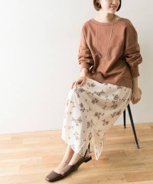[URBAN RESEARCH] ナチュラルアンティークフラワープリントスカート