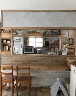 キッチンカウンター DIYアイデア