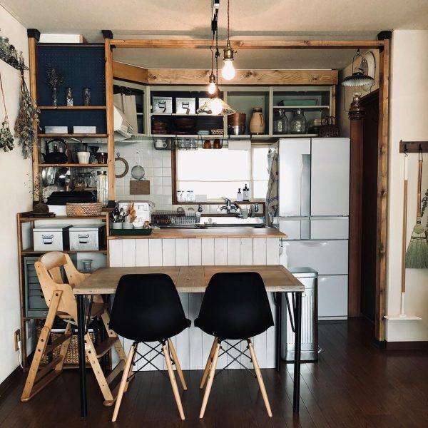 キッチンカウンター DIYアイデア3
