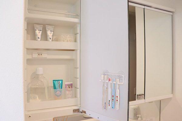 【洗面台】吊るす収納アイデア