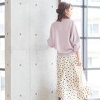色っぽくてフェミニン♡大人女子のラベンダートップス春コーデ15選