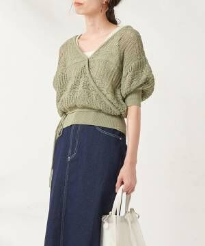 [natural couture] 透かし編みカシュクール