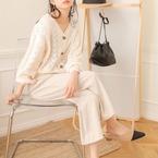 透け感がかわいい♡春に人気の「透かし編みニット」着こなし特集