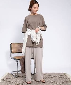 [IENA] 強撚天竺BIGポケットTシャツ◆