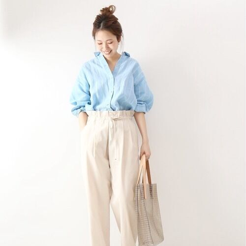 毎日着たいおしゃれな新作リネンシャツ☆大人女子の着こなし14選
