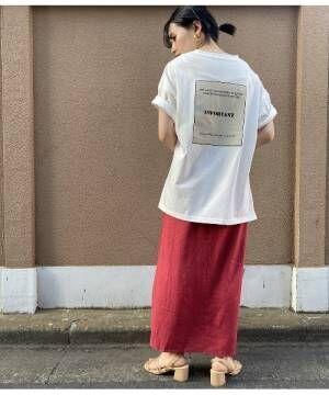 [ViS] 【WEB限定】フロント刺繍バックロゴビッグTシャツ