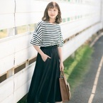 【GU&しまむら】のスカートで作るお手本コーデ!プチプラなのに可愛すぎる!