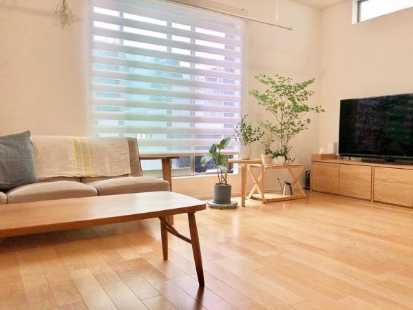 木製家具×グリーンのナチュラルインテリア