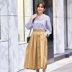 春夏スタイルがぐっと女性らしく!大人可愛い《フレアスカート》のトレンドコーデ♡