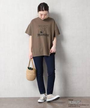 [FREAK'S STORE] 【WEB限定】PEANUTS/ピーナッツ別注スヌーピープリントTシャツ